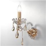楼梯客厅卧室水晶壁灯 墙壁灯过道灯蜡烛单头双头床头灯欧式壁灯