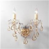 欧式轻奢水晶蜡烛壁灯过道床头灯楼梯走廊客厅灯现代简约创意灯具