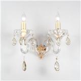 单双头欧式蜡烛水晶壁灯别墅客厅灯餐厅灯卧室灯酒店大堂创意壁灯