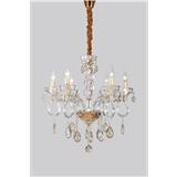 欧式水晶吊灯现代客厅简约餐厅灯大气吊灯蜡烛水晶灯简欧复古灯具