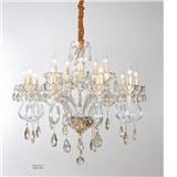 欧式水晶套餐组合简约现代8头客厅卧室餐厅奢华大气15头蜡烛吊灯