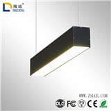 led简约铝材办公灯吊线灯 办公线条灯办公室吊长方形吊灯条形灯