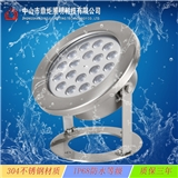 LED12W18W水底灯不锈钢单色七彩水下灯水池灯IP68户外防水投射灯