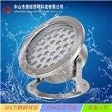 LED36W水底灯304不锈钢水池灯鱼池泳池户外亮化ip68工程灯具