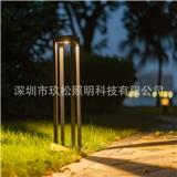 厂家批发户外跨境专供 方柱简约款草坪灯 LED园林景观灯30CM