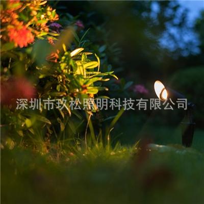 厂家批发户外LED插地草坪灯 7w插地式照树灯园林景观灯花园别墅灯