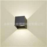 厂家直销LED壁灯 现代铝材调光双面壁灯 户外庭院阳台别墅led壁灯