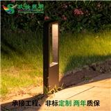 led草坪灯 7w户外景观庭院 IP65防水灯压铸铝暖光黑色 欧司朗芯片