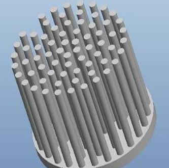 【厂家直销】Φ52 3-9W纯铝冷锻一体成型柱状LE