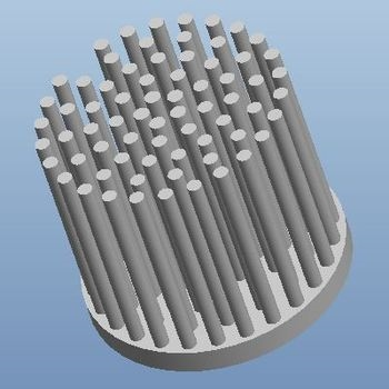 【厂家直销】Φ52 3-9W纯铝冷锻一体成型柱状LED筒灯散热器