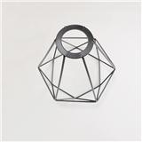 铁艺金属灯罩吊灯配件 鸟笼形状创艺砖石款 鸟笼铁艺灯罩