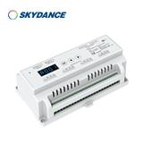 景晴光电8通道DMX512 PWM RDM解码器 12路5A 恒压DMX512-SPI解码器 D12