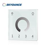 景晴光电双通道DMX512面板主控LED控制器 低压调色温控制器 暖白冷白LED调光器解码器 T11