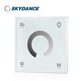 景晴光电色温四区面板LED控制器 高压色温面板遥控器 DMX512面板主控调光器 调光调色温 T1