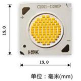 海迪科超世界一流CSP-COB1811 11发光面实现54W超高显指130LM/W超高光效