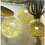 竹编织灯罩