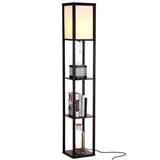 恩德森灯饰亚马逊跨境专供多功能置物层架灯个性创意卧室层架地灯