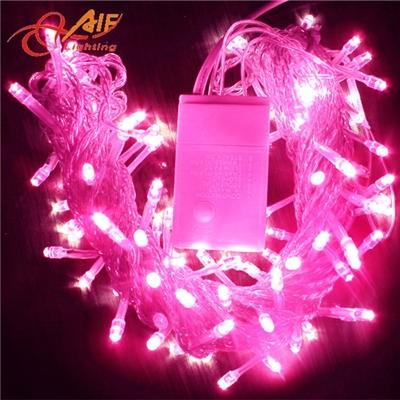 厂家直销防水带控制器LED星星灯,10米100灯粉红光