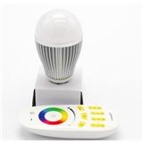 智能全彩LED 球泡灯 无线分组控制 9W 灯泡 E27E26触摸变色控制