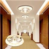 厂家直销现代无主灯设计筒灯LED水晶过道灯走廊灯客厅暗装创意室内照明灯具