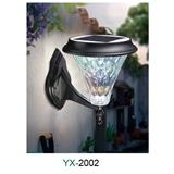YX-2002 新款户外光控太阳能灯壁灯防水遥控太阳能灯爆款庭院公园广场家用照明灯厂家直销生产批发